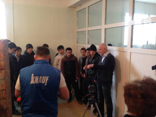В Каспийске КНАУФ провел мастер-классы для будущих строителей